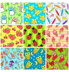 cute patterns vector image vector image