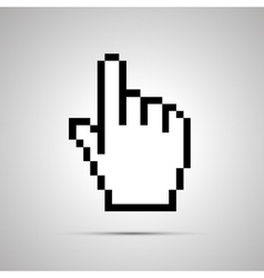 Pixelated computer cursor in hand shape simple vector image vector image
