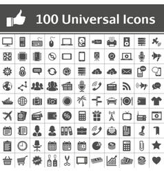 100 universal icons vector