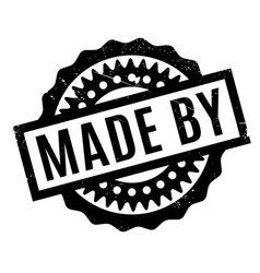 Made by rubber stamp vector