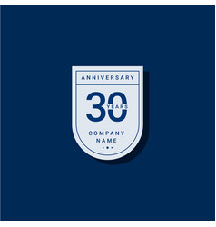 30 years anniversary celebration your company vector