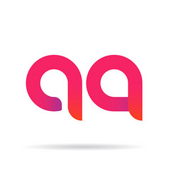 A and q letter signs vector