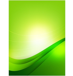 Abstra background green curve and layed element vector