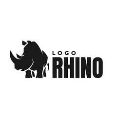 African rhino silhouette logo symbol vector