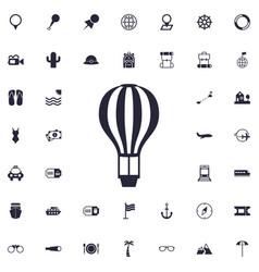 Air baloon icon vector