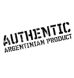 Authentic argentinian product stamp vector