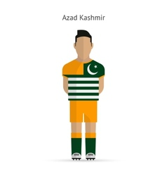 Azad Kashmir football player Soccer uniform vector
