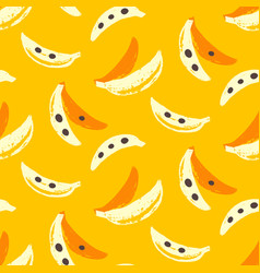 Bananas tropic seamless pattern vector