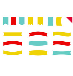 Banner labels collection free vector