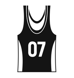 Basketball vest icon simple style vector