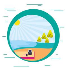 beach sand tree nature landscape vector image