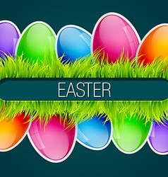 beautiful easter design vector image
