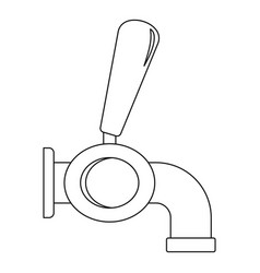 beer tap icon outline style vector image