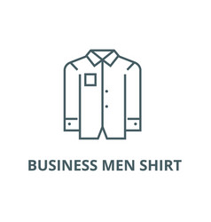 business men shirt line icon business men vector image