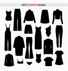 capsule woman wardrobe vector image