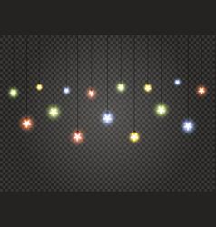 christmas lights lamp vector image
