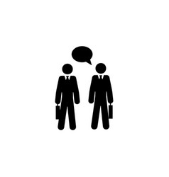 colleagues talk icon element of colleagues icon vector image