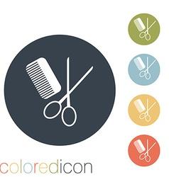 comb and scissors barbershop vector image