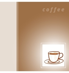 Cup hand drawn background vector