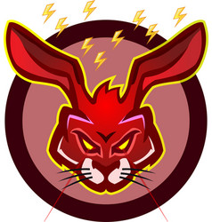 dark redish rabbist mascot logo vector image