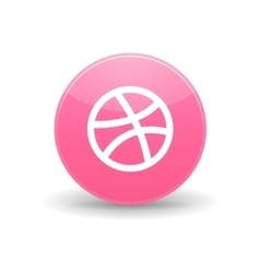 Dribbble icon simple style vector image