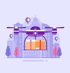 drone delivery service concept vector image