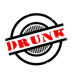 Drunk rubber stamp vector