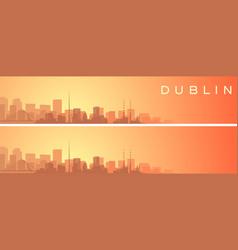 Dublin beautiful skyline scenery banner vector
