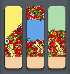 Fruit Banner Set vector
