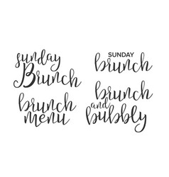 Funny modern calligraphy of brunch word vector