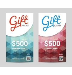 Gift voucher Vertical Template with colorful and vector image