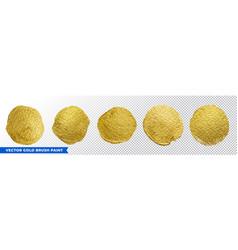 gold brush paint circles golden glitter texture vector image