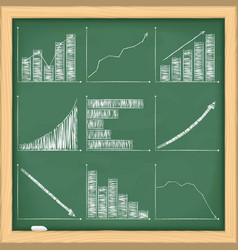 Graphs on blackboard vector