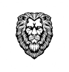 Head lion silhouette clipart vector