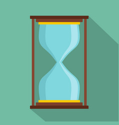 hourglass icon flat style vector image