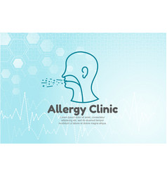 human head for allergy vector image