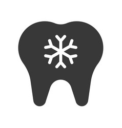 Hypersensitive teeth dental related solid icon vector