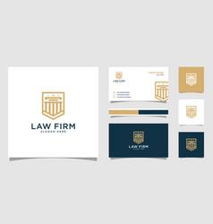 law firm shield logo design vector image
