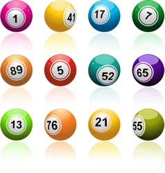 Lottery Bingo Background vector image