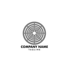 Manhole cover logo template design vector