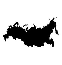 Map of russian icon black color flat style simple vector