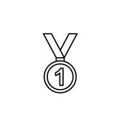 medal winner winter sport outline icon element of vector image