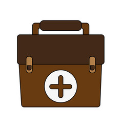 Medical briefcase vector