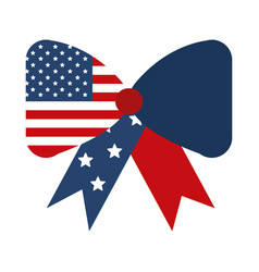 Memorial day flag shaped bow decoration american vector