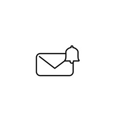 message notification logo icon isolated element vector image