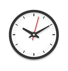 modern white clock icon single isolated vector image
