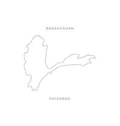 National map badakhshan outline vector
