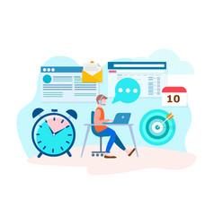 office worker online vector image