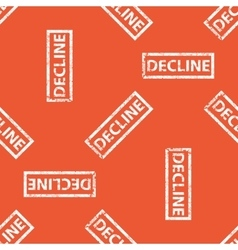 Orange DECLINE stamp pattern vector
