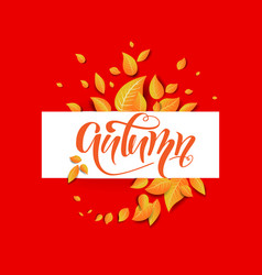 orange nature banner vector image
